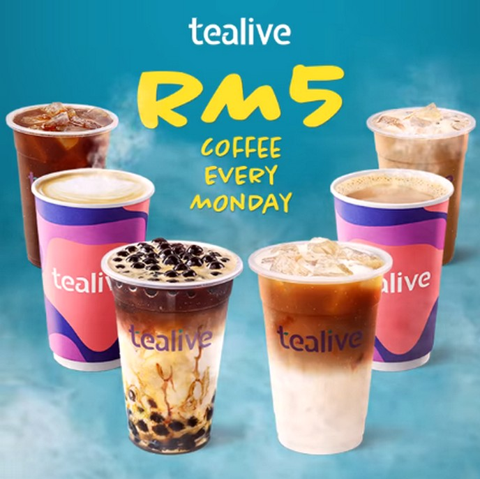 Tealive Promosi Isnin Coffee Hanya RM5 sahaja!
