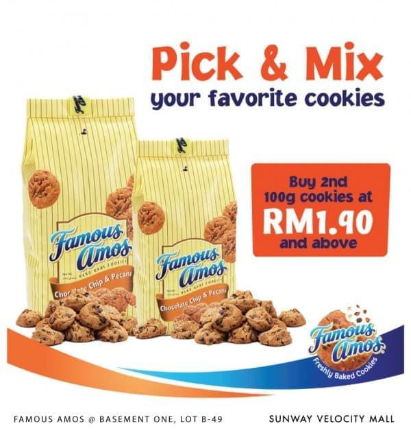 Famous-Amos-Pick-Mix-Promo-350x368 - Beverages Food , Restaurant & Pub Kuala Lumpur Promotions & Freebies Selangor