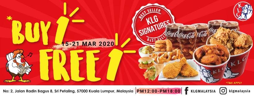 KLG-Buy-1-Free-1-Promo-350x133 - Beverages Food , Restaurant & Pub Kuala Lumpur Promotions & Freebies Selangor