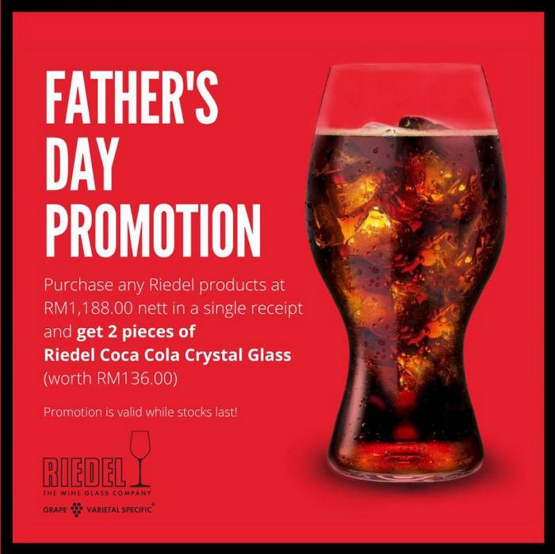 Riedel-Fathers-Day-Promotion-at-Isetan-KLCC-350x350 - Kuala Lumpur Others Promotions & Freebies Selangor