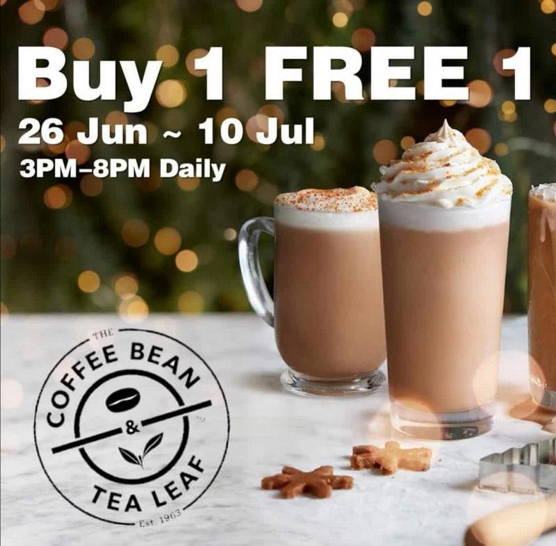 26 Jun 10 Jul 2020 The Coffee Bean Tea Leaf Buy 1 Free 1 Promotion Everydayonsales Com