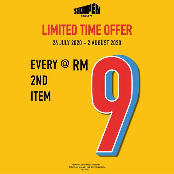 SHOOPEN-2nd-Item-Promotion-350x350 - Fashion Accessories Fashion Lifestyle & Department Store Footwear Johor Kuala Lumpur Pahang Promotions & Freebies Putrajaya Selangor