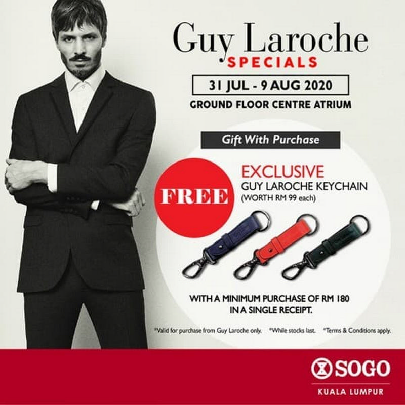 Guy-Laroche-Specials-Promo-at-Sogo-350x350 - Fashion Accessories Fashion Lifestyle & Department Store Kuala Lumpur Promotions & Freebies Selangor