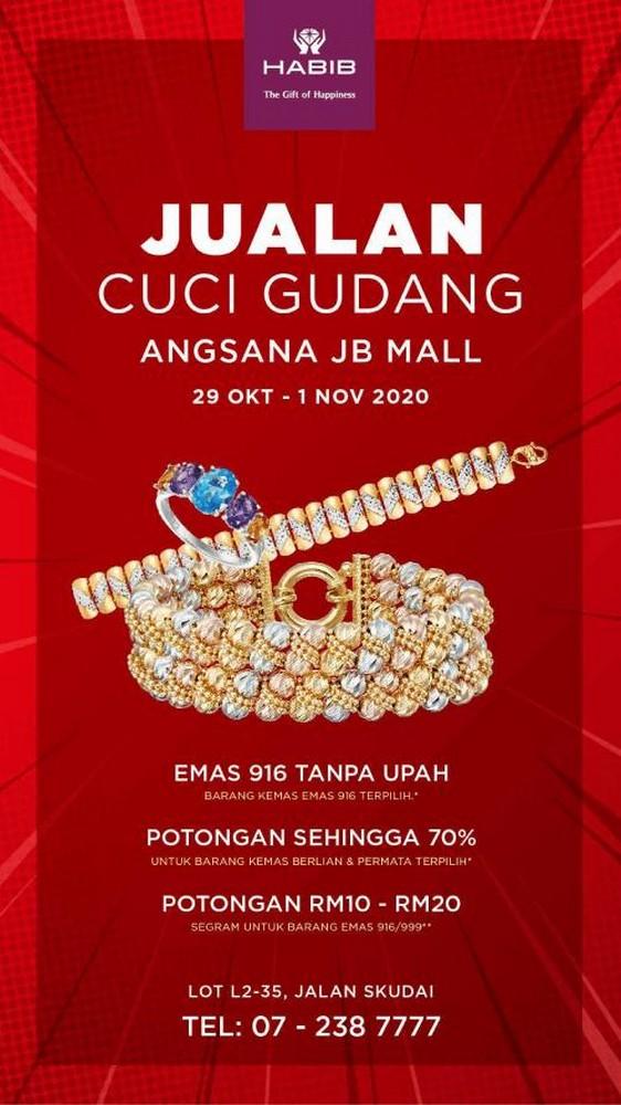 HABIB-Warehouse-Clearance-Sale-at-Angsana-JB-Mall-350x623 - Gifts , Souvenir & Jewellery Jewels Johor Warehouse Sale & Clearance in Malaysia