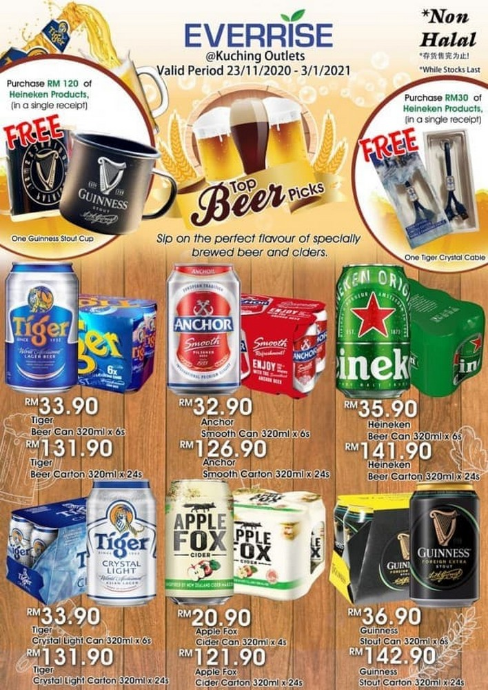 Everrise-Top-Beer-Picks-Promotion-350x494 - Promotions & Freebies Sarawak Supermarket & Hypermarket