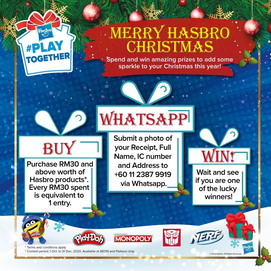 Hasbro-Christmas-Contest-5-350x350 - Baby & Kids & Toys Events & Fairs Johor Kedah Kelantan Kuala Lumpur Melaka Negeri Sembilan Pahang Penang Perak Perlis Putrajaya Sabah Sarawak Selangor Terengganu Toys