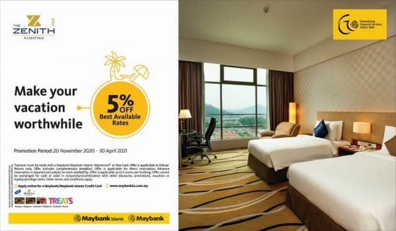 The-Zenith-Hotel-Special-Promotion-with-Maybank-350x204 - Bank & Finance Hotels Maybank Pahang Promotions & Freebies Sports,Leisure & Travel