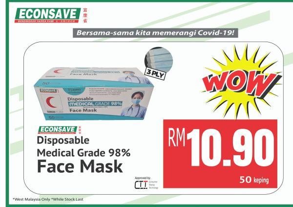 Econsave-Disposable-Face-Mask-Promo-2-1-350x247 - Johor Kedah Kelantan Kuala Lumpur Melaka Negeri Sembilan Pahang Penang Perak Perlis Promotions & Freebies Putrajaya Selangor Supermarket & Hypermarket Terengganu