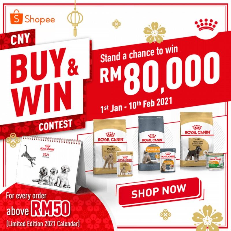 Royal-Canin-CNY-Contest-at-Shopee-350x350 - Events & Fairs Johor Kedah Kelantan Kuala Lumpur Melaka Negeri Sembilan Online Store Pahang Penang Perak Perlis Pets Putrajaya Sabah Sarawak Selangor Sports,Leisure & Travel Terengganu