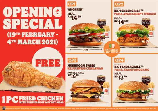 Burger-King-New-Opening-Special-Deals-at-Menara-Hap-Seng-350x247 - Beverages Burger Food , Restaurant & Pub Kuala Lumpur Promotions & Freebies Selangor