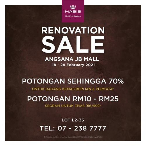 HABIB-Renovation-Sale-at-Angsana-JB-Mall-7-350x350 - Gifts , Souvenir & Jewellery Jewels Johor Warehouse Sale & Clearance in Malaysia