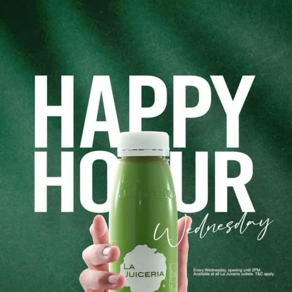 La-Juiceria-Happy-Hour-Promo-350x350 - Beverages Food , Restaurant & Pub Johor Kedah Kelantan Kuala Lumpur Melaka Negeri Sembilan Pahang Penang Perak Perlis Promotions & Freebies Putrajaya Sabah Sarawak Selangor Terengganu