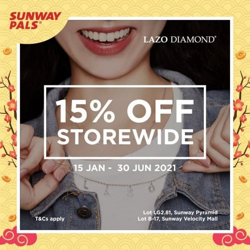 Lazo-Diamond-15-off-Promo-with-Sunway-Pals-350x350 - Gifts , Souvenir & Jewellery Jewels Kuala Lumpur Promotions & Freebies Sales Happening Now In Malaysia Selangor This Week Sales In Malaysia