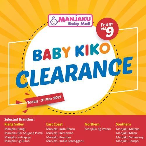 Manjaku-Baby-Kiko-Clearance-Sale-350x350 - Baby & Kids & Toys Babycare Johor Kedah Kelantan Kuala Lumpur Melaka Negeri Sembilan Pahang Penang Perak Perlis Putrajaya Sabah Sarawak Selangor Terengganu Warehouse Sale & Clearance in Malaysia