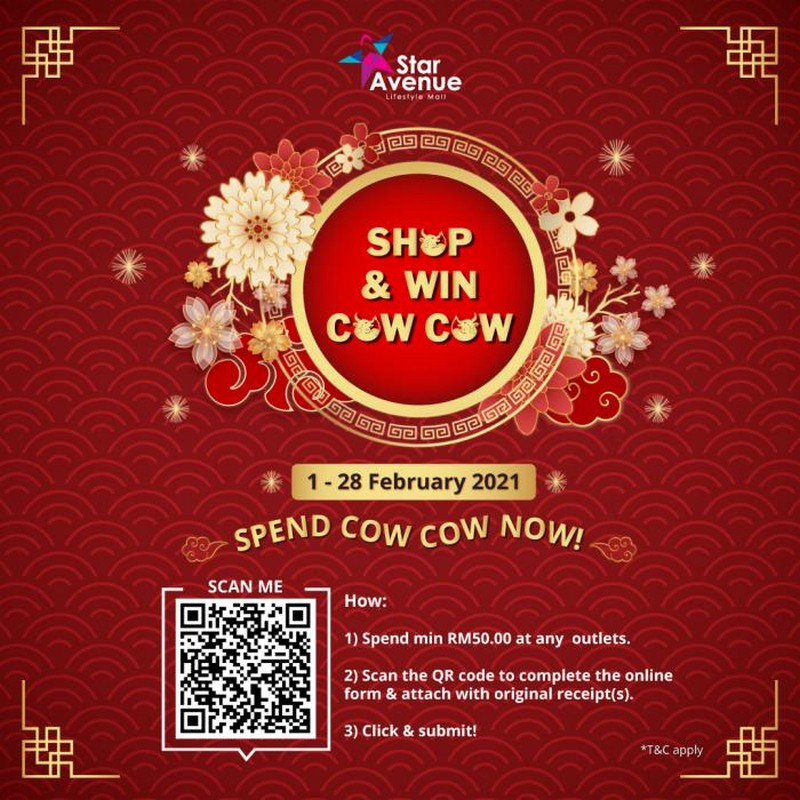 Star-Avenue-CNY-Show-Win-Cow-Cow-2021-Contest-350x350 - Events & Fairs Johor Kedah Kelantan Kuala Lumpur Melaka Negeri Sembilan Online Store Others Pahang Penang Perak Perlis Putrajaya Sabah Sarawak Selangor Terengganu