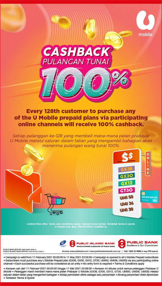 U-Mobile-Campaign-2021-Promo-with-Public-Bank-350x619 - Bank & Finance Johor Kedah Kelantan Kuala Lumpur Melaka Negeri Sembilan Online Store Others Pahang Penang Perak Perlis Promotions & Freebies Public Bank Putrajaya Sabah Sarawak Selangor Terengganu