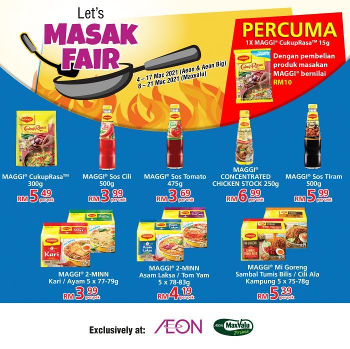AEON-Nestle-Masak-Fair-Promotion-1-350x349 - Johor Kedah Kelantan Kuala Lumpur Melaka Negeri Sembilan Pahang Penang Perak Perlis Promotions & Freebies Putrajaya Sabah Sarawak Selangor Supermarket & Hypermarket Terengganu