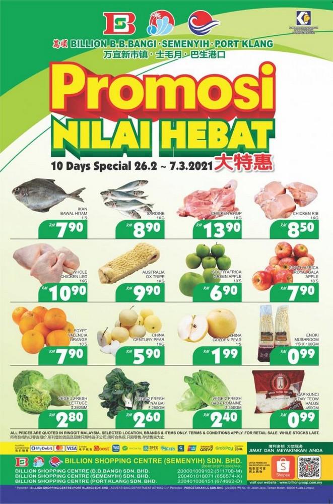 BILLION-Promotion-at-3-Stores-350x530 - Promotions & Freebies Selangor Supermarket & Hypermarket