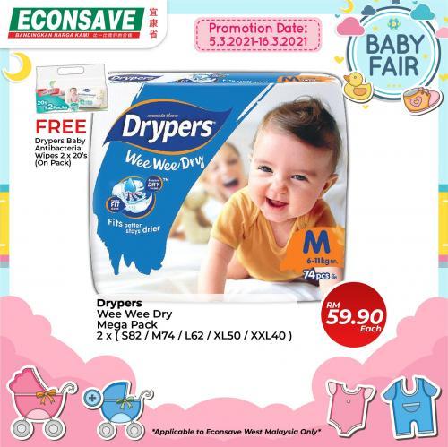 Econsave-Baby-Fair-Promotion-1-350x349 - Johor Kedah Kelantan Kuala Lumpur Melaka Negeri Sembilan Pahang Penang Perak Perlis Promotions & Freebies Putrajaya Selangor Supermarket & Hypermarket Terengganu
