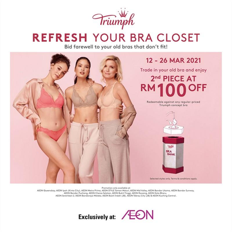 Triumph-Refresh-You-Bra-Closet-Promo-at-AEON-350x350 - Johor Kuala Lumpur Penang Perak Selangor