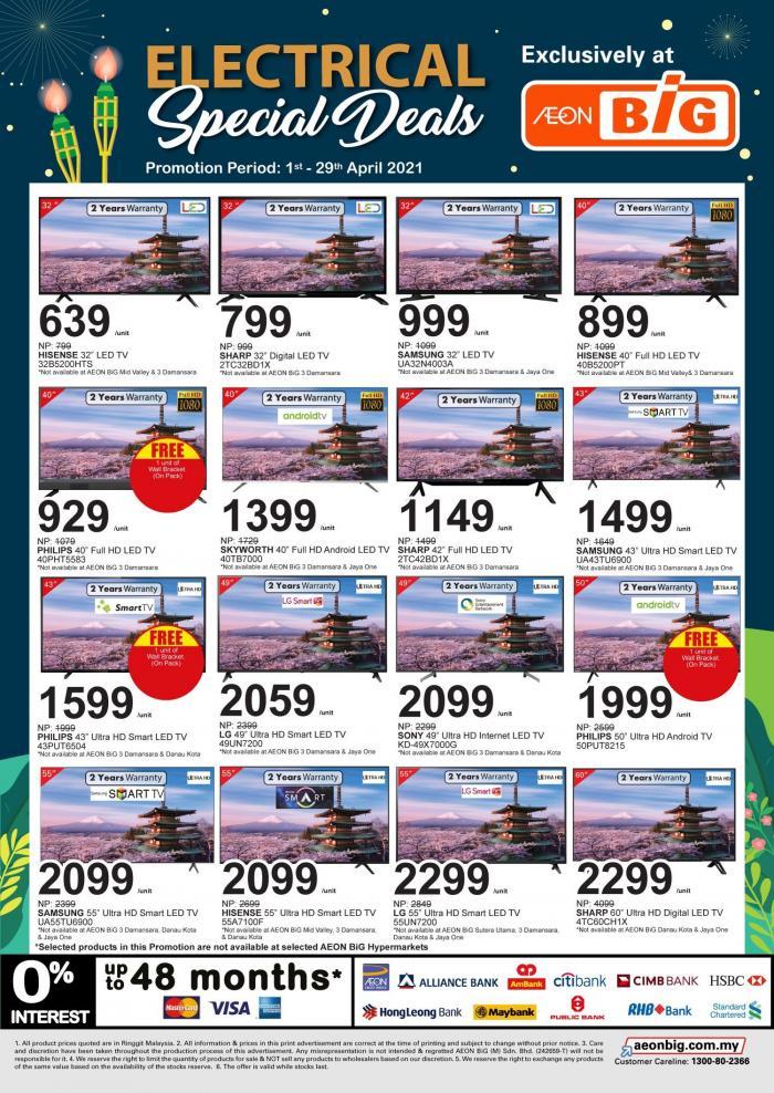 AEON-BiG-Electrical-Promotion-5-350x494 - Johor Kedah Kelantan Kuala Lumpur Melaka Negeri Sembilan Online Store Pahang Penang Perak Perlis Promotions & Freebies Putrajaya Sabah Sarawak Selangor Supermarket & Hypermarket Terengganu