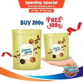 Famous-Amos-Opening-Promotion-at-Pearl-Point-1-350x350 - Beverages Food , Restaurant & Pub Kuala Lumpur Promotions & Freebies Selangor