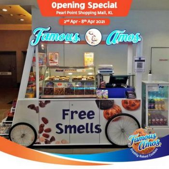 Famous-Amos-Opening-Promotion-at-Pearl-Point-350x350 - Beverages Food , Restaurant & Pub Kuala Lumpur Promotions & Freebies Selangor