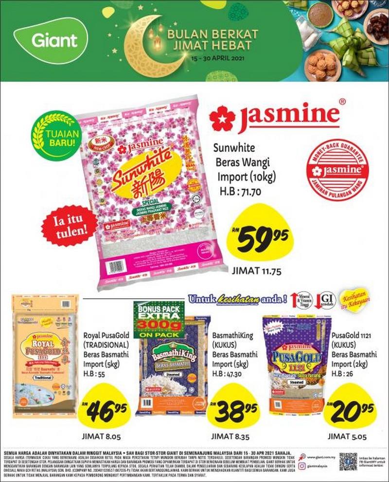 Giant-Jasmine-Rice-Promotion-350x434 - Johor Kedah Kelantan Kuala Lumpur Melaka Negeri Sembilan Pahang Penang Perak Perlis Promotions & Freebies Putrajaya Selangor Supermarket & Hypermarket Terengganu