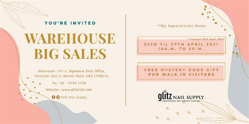 Glitz-Nail-Supply-Warehouse-Sale-350x175 - Kuala Lumpur Others Selangor Warehouse Sale & Clearance in Malaysia