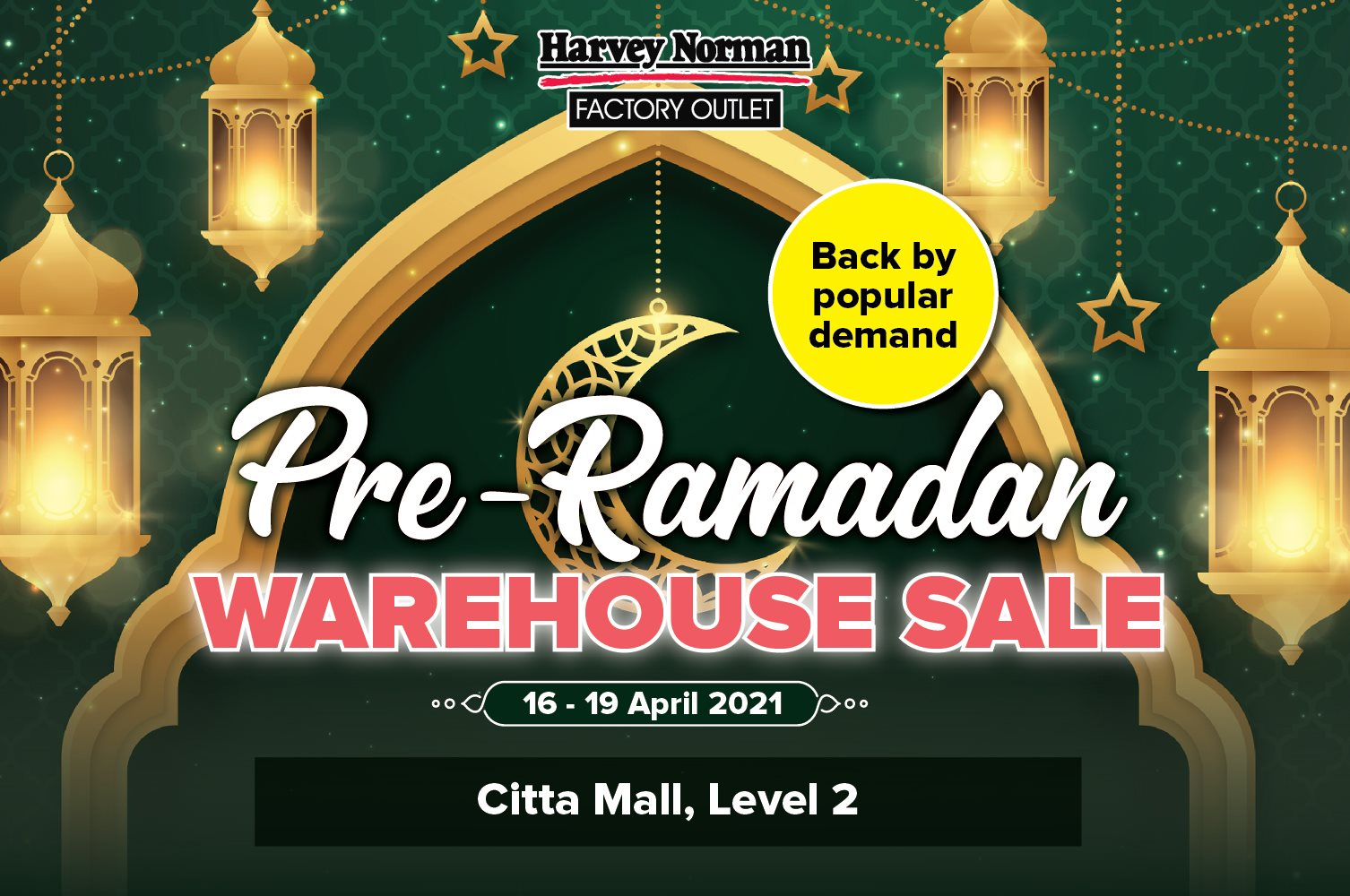 Harvey-NOrman-Warehouse-Sale-2021-Jualan-Gudang-Main-Citta-Mall - Electronics & Computers Furniture Home Appliances Home Decor Kitchen Appliances Selangor Warehouse Sale & Clearance in Malaysia