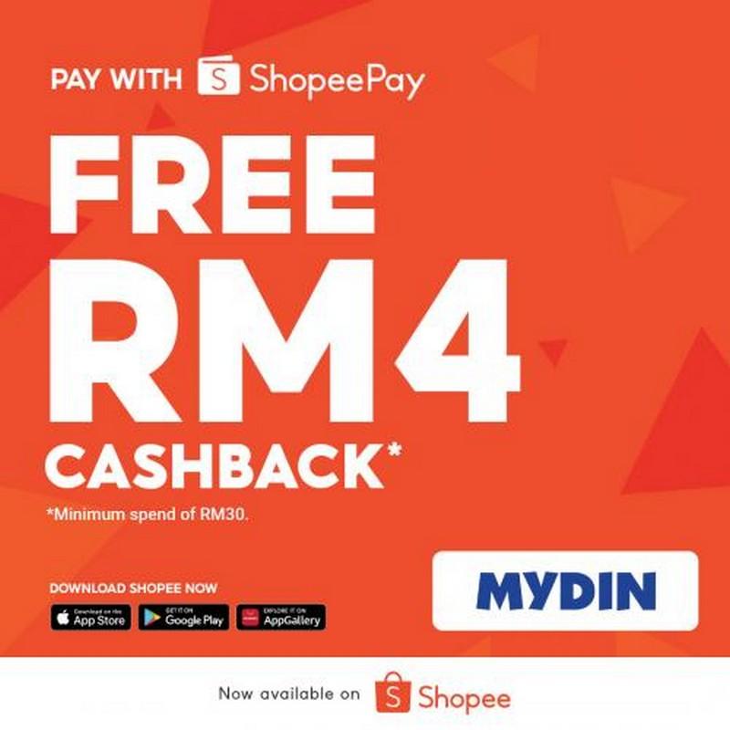 MYDIN-RM4-Cashback-Promotion-with-ShopeePay-350x350 - Johor Kedah Kelantan Kuala Lumpur Melaka Negeri Sembilan Pahang Penang Perak Perlis Promotions & Freebies Putrajaya Sabah Sarawak Selangor Supermarket & Hypermarket Terengganu