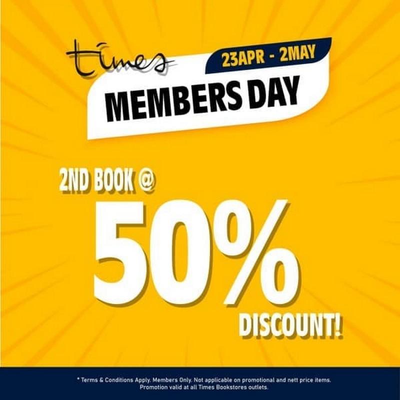 Times-Bookstore-Member-Day-Promo-350x350 - Books & Magazines Johor Kedah Kelantan Kuala Lumpur Melaka Negeri Sembilan Pahang Penang Perak Perlis Promotions & Freebies Putrajaya Sabah Sarawak Selangor Stationery Terengganu