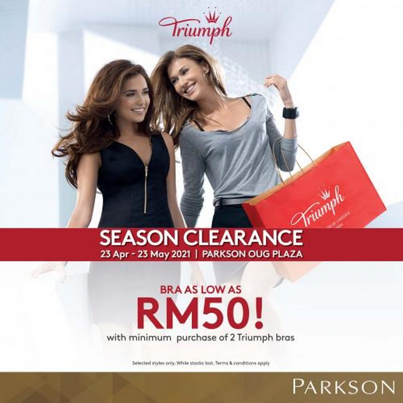 Triumph-Season-Clearance-Sale-at-Parkson-OUG-Plaza-350x350 - Fashion Accessories Fashion Lifestyle & Department Store Kuala Lumpur Lingerie Sales Happening Now In Malaysia Selangor This Week Sales In Malaysia Warehouse Sale & Clearance in Malaysia