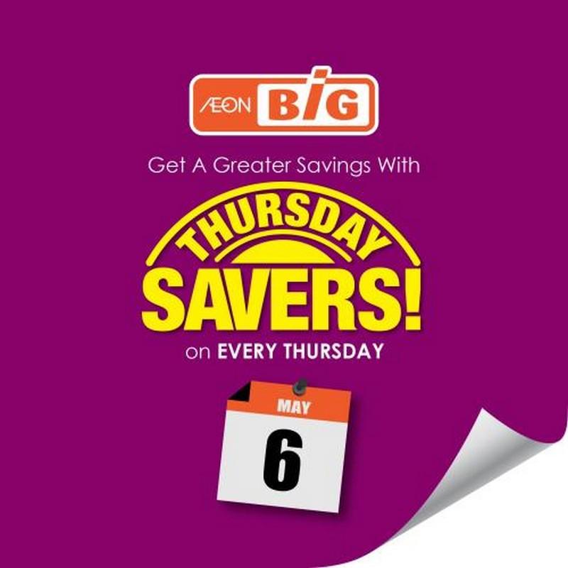AEON-BiG-Thursday-Savers-Promotion-350x350 - Johor Kedah Kelantan Kuala Lumpur Melaka Negeri Sembilan Pahang Penang Perak Perlis Promotions & Freebies Putrajaya Sabah Sarawak Selangor Supermarket & Hypermarket Terengganu