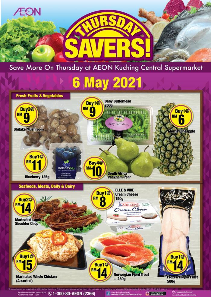 AEON-Supermarket-Thursday-Savers-Promotion-1-350x493 - Johor Kedah Kelantan Kuala Lumpur Melaka Negeri Sembilan Pahang Penang Perak Perlis Promotions & Freebies Putrajaya Sabah Sarawak Selangor Supermarket & Hypermarket Terengganu