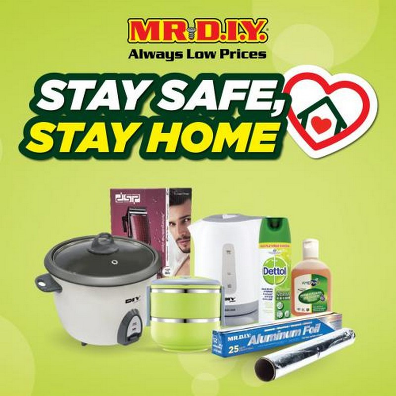 MR-DIY-Stay-Safe-Stay-Home-Promotion-350x350 - Johor Kedah Kelantan Kuala Lumpur Melaka Negeri Sembilan Others Pahang Penang Perak Perlis Promotions & Freebies Putrajaya Sabah Sarawak Selangor Terengganu