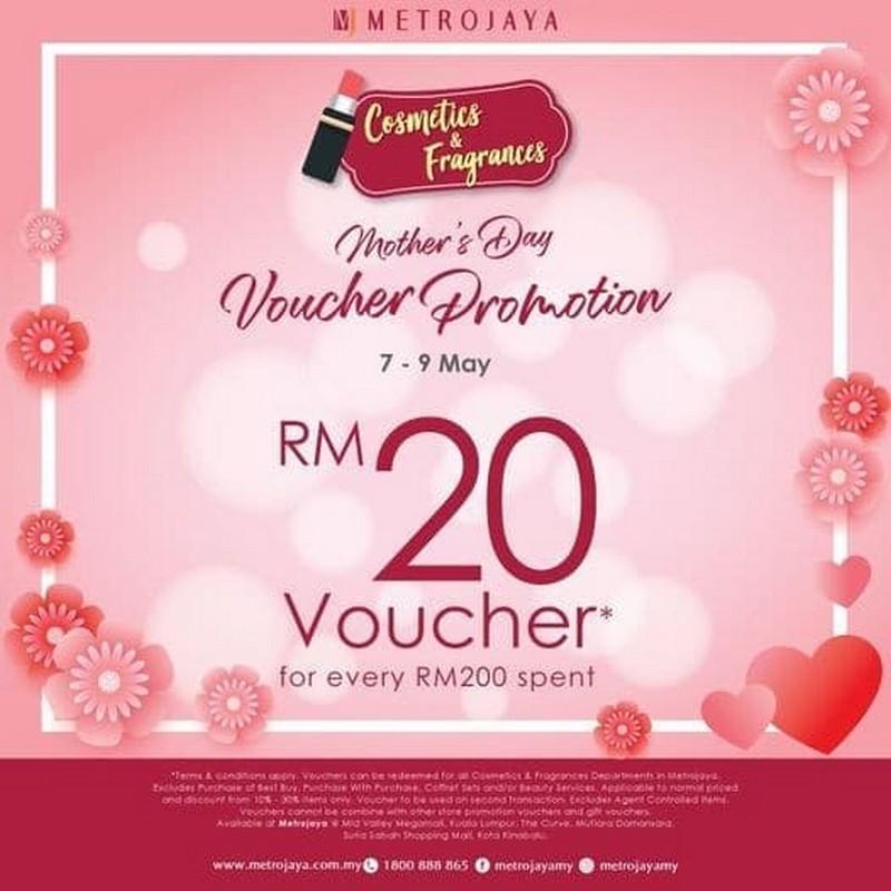 Metrojaya-Mothers-Day-Voucher-Promo-350x350 - Beauty & Health Cosmetics Fragrances Kuala Lumpur Promotions & Freebies Selangor