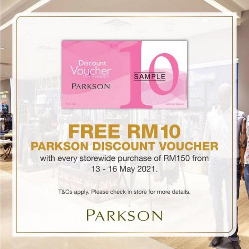 Parkson-Free-Voucher-Promotion-350x350 - Johor Kedah Kelantan Kuala Lumpur Melaka Negeri Sembilan Pahang Penang Perak Perlis Promotions & Freebies Putrajaya Sabah Sarawak Selangor Supermarket & Hypermarket Terengganu