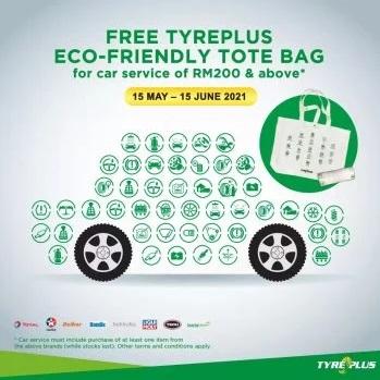 TYREPLUS-Free-Eco-friendly-Tote-Bag - Automotive Johor Kedah Kelantan Kuala Lumpur Melaka Negeri Sembilan Pahang Penang Perak Perlis Promotions & Freebies Putrajaya Sabah Sarawak Selangor Terengganu