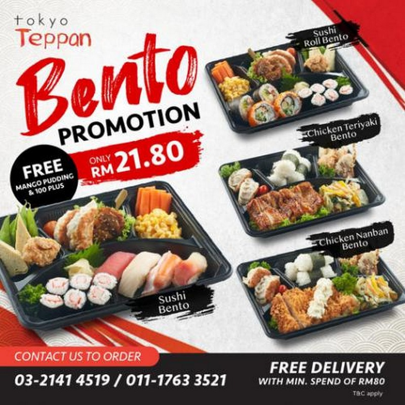 Tokyo-Teppan-Bento-Promotion-350x350 - Beverages Food , Restaurant & Pub Johor Kedah Kelantan Kuala Lumpur Melaka Negeri Sembilan Pahang Penang Perak Perlis Promotions & Freebies Putrajaya Sabah Sarawak Selangor Terengganu