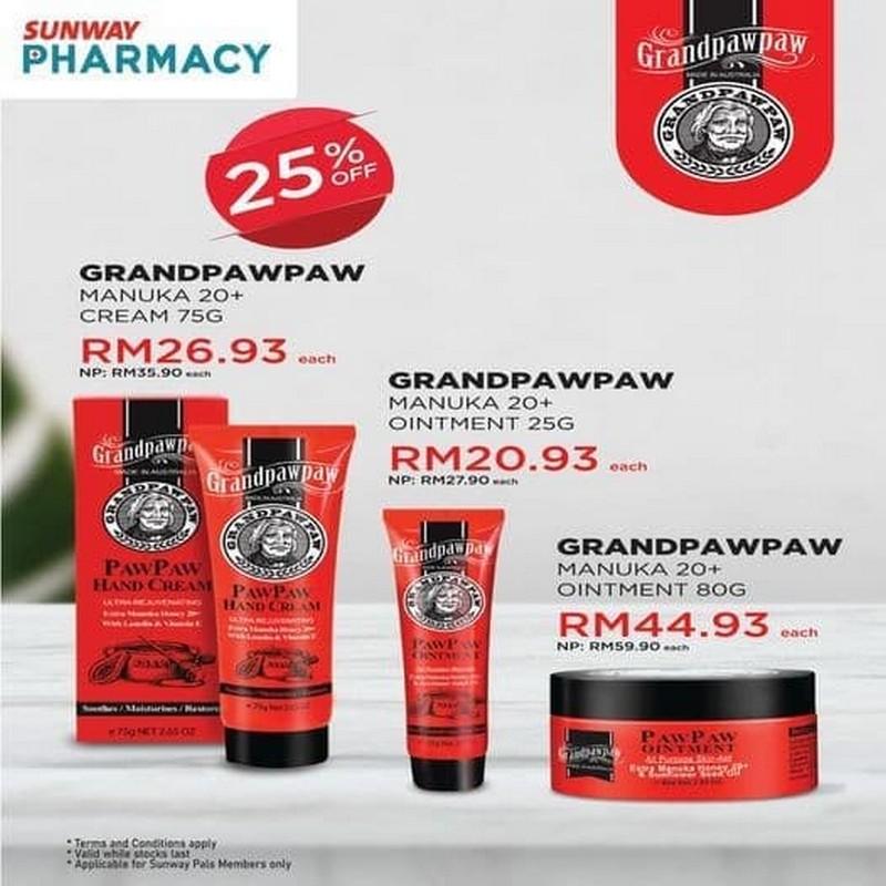 Sunway-Pharmacy-GrandPawPaw-Promo-350x350 - Beauty & Health Johor Kedah Kelantan Kuala Lumpur Melaka Negeri Sembilan Pahang Penang Perak Perlis Personal Care Promotions & Freebies Putrajaya Sabah Sarawak Selangor Skincare Terengganu